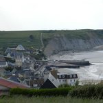looking down to Arromanches