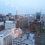View of Sapporo from 22nd floor of Keio Plaza
