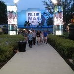 path to Blue Man Group