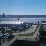View of the Mersey from our room on 4th floor