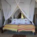 The huge bed made from old dhow wood