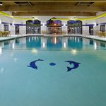 Enjoy the largest indoor heated hotel Swimming Pool in the area.