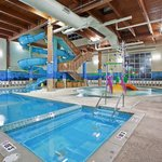 Toddler play area, vortex pool, and 3 story figure 8 water slide!