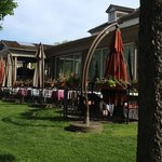 front patio is a wonderful place to relax or dine
