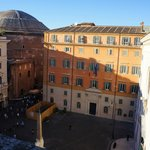 View of the back of the Pantheon from our room