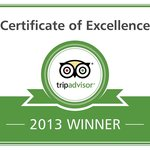 Certificate of Excellance 2013 Winner