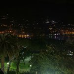 Night view on Rapallo harbour and marina from the terrace