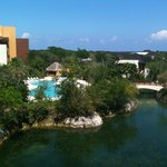 Fairmont Mayakoba pool by hotel tower