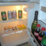 Beverage supply in your std room's fridge