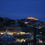 Molyvos at night