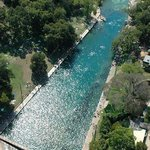 Bird's eye view of Barton Springs! Totally refreshing!
