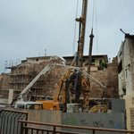 The constuction site/industrial digger - right outside the hotel