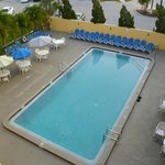 View of pool from 4th floor balcony