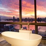 Penthouse Bathroom At Sunset