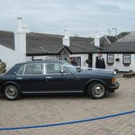 Gretna Green Rolls Royce arriving for wedding