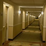 Bright and wide hallways (photo taken at night)