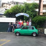 Irish Mini owners with Oreste the owner of Hotel Zoagli
