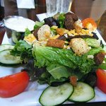 salad at in-house Spanish Themed restaurant