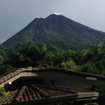 clear view of the volcano from our room