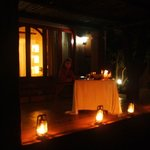 Special occassion, private dinner on your own verandah!