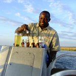 Sunset cruise - Chika has the sundowners in hand!