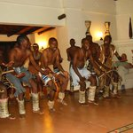 Traditional dance in the lounge area welcoming the guests