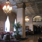 The lobby of The Brown Hotel