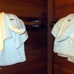 "Towel animals from ""mouse"" keeping:-)"