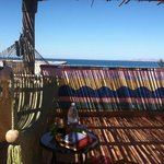 View from hammock/rooftop palapa