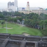 Beyond Intramuros fort walls to Manila, just before the river
