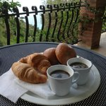 breakfast on the terrace in our room