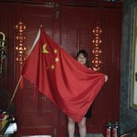 Proud flag of China