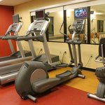 Fitness room next to pool