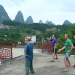 Tai Chi class on rooftop terrace Trippers Carpe Diem