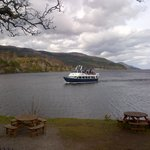 The Ferry returning from an unsuccessful Nessie sighting at Fort Augustus