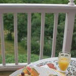 Delectable breakfast on the deck