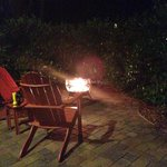 Private fire pit and 'smores kit provided