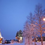 Only 2hrs lights during winter .Santa claus village @ lapland Finland