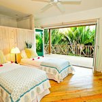 twin bed room in villa