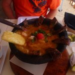 Steak and Shrimp Molcajete....absolutely delicious!