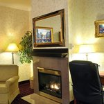 Enjoy a relaxing night by the fireplace