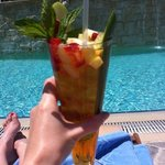 Gorgeous cocktails served by the pool
