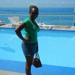 moi chilling at the pool