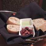 Fresh bread, toasted almonds & hummus