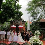 Wedding in the garden area