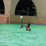 Swimming pool playing