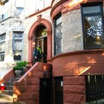 A beautiful Brooklyn brownstone building.