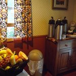 Our light continental breakfast nook