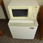 Yellowed door on microwave