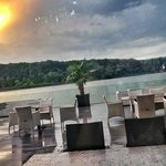 Beautiful lakeside views from the restaurant